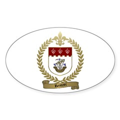 RENOYER Family Crest Oval Decal