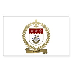 RENOYER Family Crest Rectangle Decal