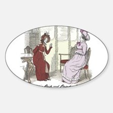 Pride & Prejudice Ch 29 Oval Decal