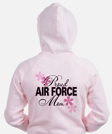 Proud Air Force Sister Zip Hoodie