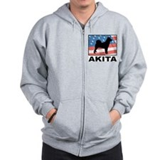 American Akita Zip Hoodie
