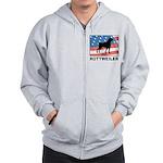 Patriotic Rottweiler Zip Hoodie
