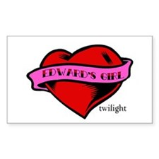 Edward's Girl Twilight Heart Tattoo Decal