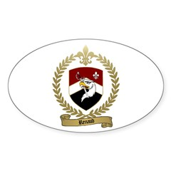 RENAUD Family Crest Oval Decal