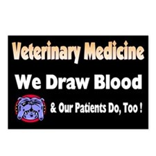 We draw blood, and our patien Postcards (Package o