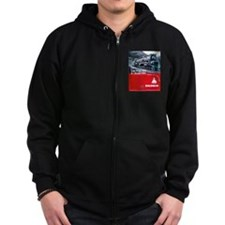 Baldwin S-2 Steam Locomotive Zip Hoody