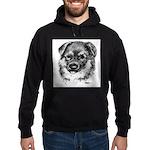German Shepherd Puppy Hoodie (dark)
