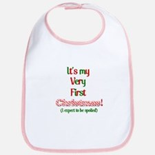My very fist Christmas Spoil me Bib