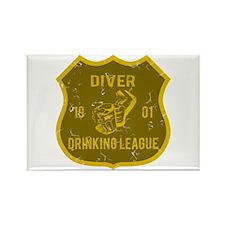 Diver Drinking League Rectangle Magnet