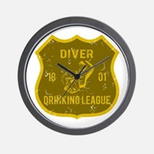Diver Drinking League Wall Clock