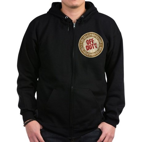 Off Duty College Professor Zip Hoodie (dark)