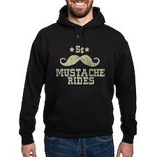 5¢ Mustache Rides (Vintage) Hoodie