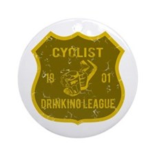 Cyclist Drinking League Ornament (Round)