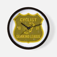 Cyclist Drinking League Wall Clock