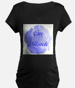 """""""Our Miracle"""" (blue) - Maternity T-Shirt"""