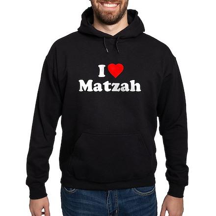 I Love [Heart] Matzah Dark Hoodie