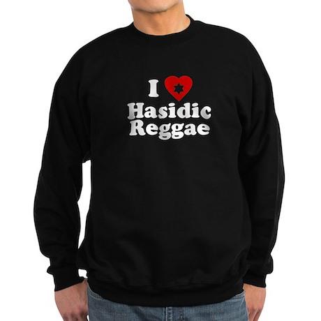 I Love [heart] Hasidic Reggae Sweatshirt (dark)