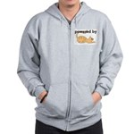 Powered By Cats Zip Hoodie
