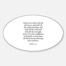 MARK 12:33 Oval Decal