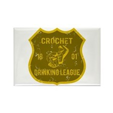 Crochet Drinking League Rectangle Magnet