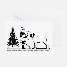 Red-Nosed Mastiff Greeting Card