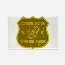 Coin Collector Drinking League Rectangle Magnet