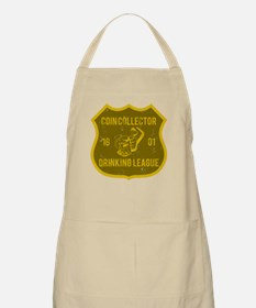 Coin Collector Drinking League BBQ Apron