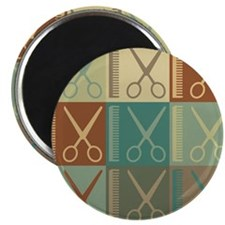 Cutting Hair Pop Art Magnet