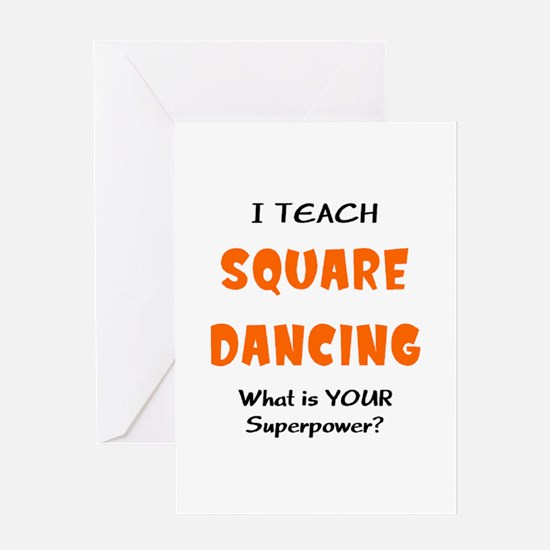 teach square dance Greeting Card