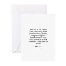 MARK  12:28 Greeting Cards (Pk of 10)