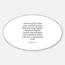 MARK 12:28 Oval Decal