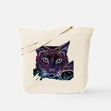 Glowing Cat Tote Bag