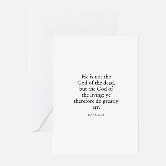 MARK  12:27 Greeting Cards (Pk of 10)
