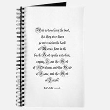 MARK 12:26 Journal