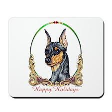 Min Pin Happy Holiday Mousepad