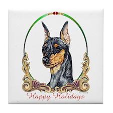 Min Pin Happy Holiday Tile Coaster
