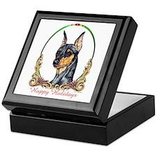 Min Pin Happy Holiday Keepsake Box