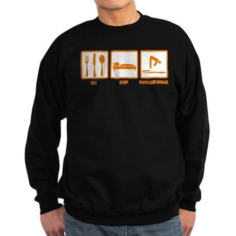 Eat Sleep Platform Diving Sweatshirt (dark)