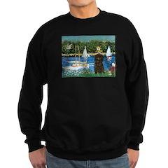 Sailboats / Affenpinscher Sweatshirt (dark)