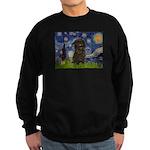 Starry Night / Affenpinscher Sweatshirt (dark)