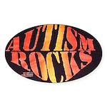 Autism Rocks Oval Sticker