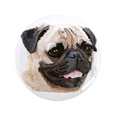 """Pug 3.5"""" Button (100 pack)"""