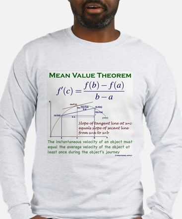 Mean Value Theorem Long Sleeve T-Shirt