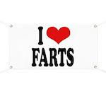 I Love Farts Banner