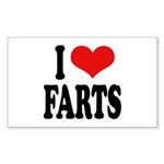 I Love Farts Rectangle Sticker 50 pk)