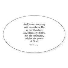 MARK 12:24 Oval Decal
