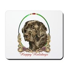 Chocolate Lab Holiday Mousepad