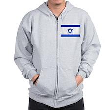 Israel Flag Zip Hoodie