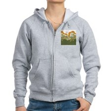 Arts and Crafts Trees Zip Hoodie