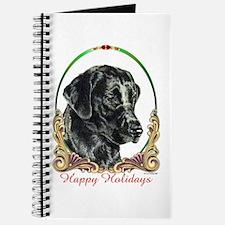 Black Lab Labrador Holiday Journal